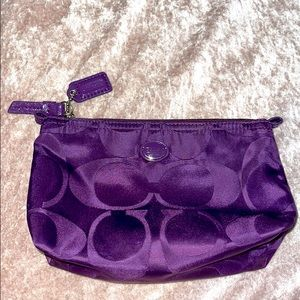 Coach Purple small cosmetic pouch